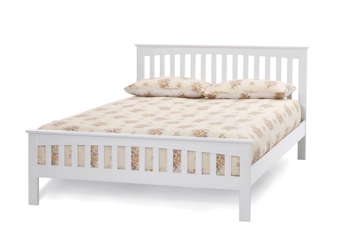 Serene Amelia Opal White Bed Frame