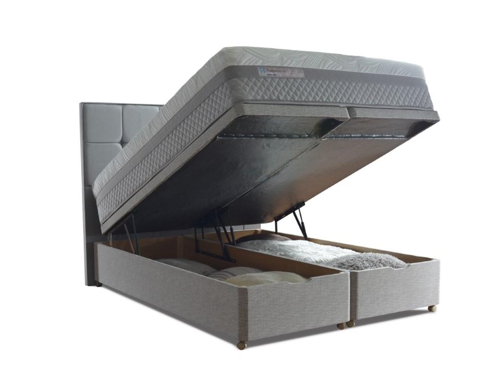 Sealy pocket nostromo 1400 divan bed for Divan bed no mattress